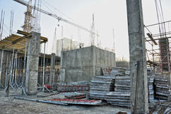 Building construction steel and concrete Royalty Free Stock Images