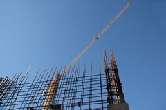 Building Construction Steel and Crane Royalty Free Stock Photo