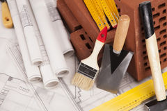 Building and construction stuff Stock Images