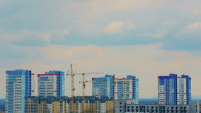Building construction. timelapse stock footage