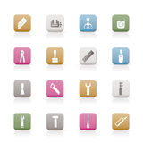 Building and Construction Tools icons Royalty Free Stock Image