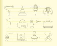 Building and Construction Tools icons Stock Image
