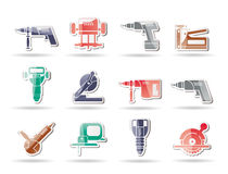 Building and Construction Tools icons Stock Images