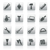Building and Construction Tools icons Royalty Free Stock Photography