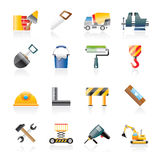 Building and construction tools icons Royalty Free Stock Photo