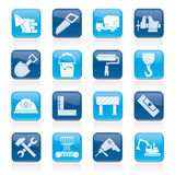 Building and construction tools icons Stock Photography