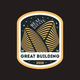 Building construction trendy vector label Royalty Free Stock Photography
