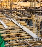 Building Construction. Upper of home building construction Stock Images