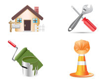 Building and construction website icons Royalty Free Stock Images