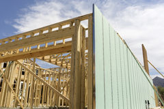 Building construction wood beams Royalty Free Stock Photography
