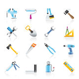 Building and Construction work tool icons Royalty Free Stock Photo