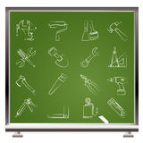 Building and Construction work tool icons Royalty Free Stock Image