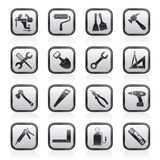 Building and Construction work tool icons Stock Photography