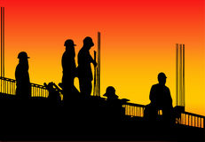 Building construction. Building Construction worker., Variable on illustration vector illustration