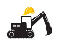 Building constructions. Half of construction with yellow hat Royalty Free Stock Photos