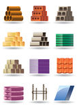 Building & constructions materials. Building and constructions materials - illustration