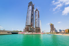Building constuction in Abu Dhabi Stock Photo