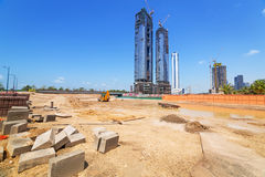 Building constuction in Abu Dhabi Royalty Free Stock Photography