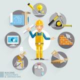 Building consultants & contractors. vector illustration