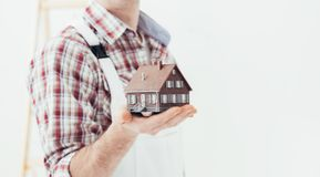 Building your house stock photos