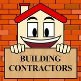 Building Contractors Shows Real Estate Builder 3d Illustration. Building Contractors Showing Real Estate Builder 3d Illustration Stock Image