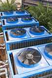 Building cooling assembly. Cooling fans for large buildings royalty free stock photography