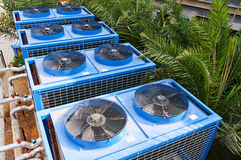 Building cooling assembly Stock Photos