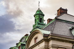 Building with copper roof Royalty Free Stock Photography