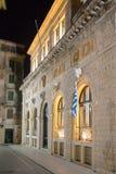 Building in Corfu at night Royalty Free Stock Photos