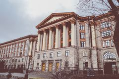 Building with Corinthian columns Stock Images