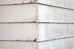 Building Corner. The corner of an old white building stock photos