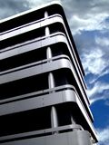 Building corner. Modern architecture office building with a sky in background royalty free stock photo