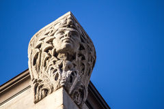 Building Corner Head Closeup Royalty Free Stock Photo