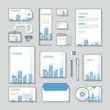 Building corporate identity template Stationery design set and Business stationery Stock Photo