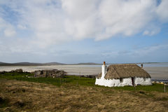 Building, Cottage, Thatched, White walls Royalty Free Stock Photos
