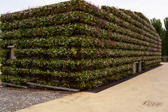 Building covered with flowers at Expo 2015, Milan Royalty Free Stock Images