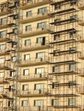 Building covered by scaffolds Royalty Free Stock Image