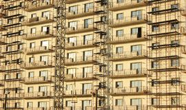 Building covered by scaffolds Royalty Free Stock Photo