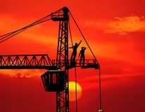 The building crane Royalty Free Stock Photos