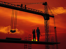 The building crane Stock Photography