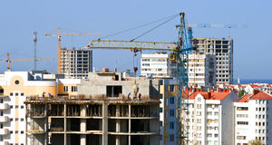Building crane. Royalty Free Stock Images