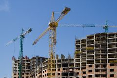 Building crane 3 horizon Stock Images