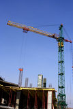 Building crane. The crane on construction of a new building Royalty Free Stock Photo