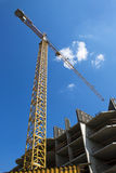 Building crane. Against the sky Royalty Free Stock Photo