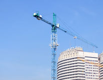 Building crane. Against blue sky Stock Photography