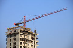 Building crane blue sky Royalty Free Stock Image