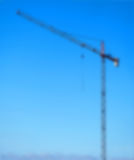 Building crane blurred Royalty Free Stock Photo