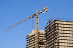 Building crane and building Stock Image