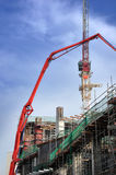 Building crane and building Royalty Free Stock Photos