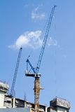 Building crane and construction site Royalty Free Stock Photos